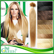 "18""20""22"" Nail U Tip Keratin Hair Extension Mega Unprocessed Peruvian Virgin Straight Hair Free Shipping Hot Selling Nail U Tip(China (Mainland))"