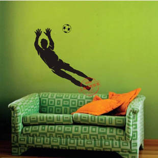 Football Player Soccer Wall Stickers Sport Football Wall Decal Home Decoration(China (Mainland))