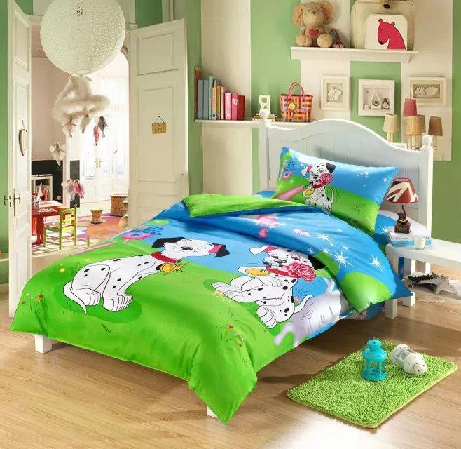 3D Dog print Kids toddler bedding set cartoon twin doona duvet cover quilt single bed in a bag sheet bedroom children 100 cotton(China (Mainland))