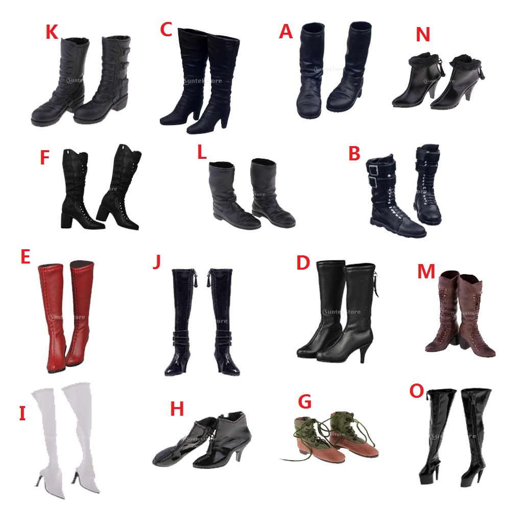 1/6 Scale Back Flat Long Boots Shoes Accessories For 12 inch Female Action Figure Body Kids Children Gifts