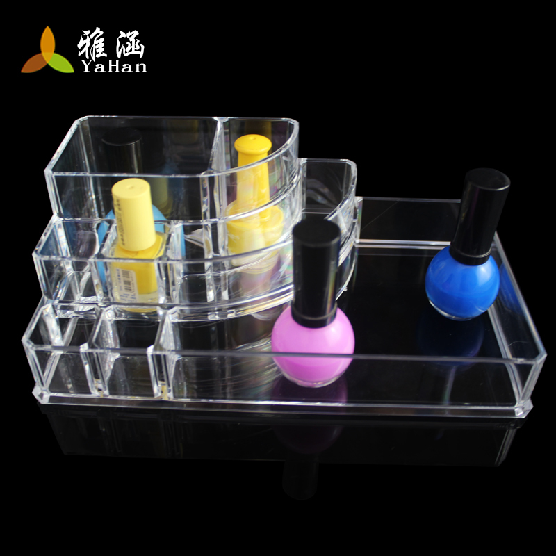 2015 New Clear Makeup Jewelry Cosmetic Storage Display Box Acrylic Case Stand Rack Holder Organizer acrylic jewelry display - products manufacturer store
