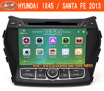 New Free Shipping Car Radio For Hyundai santa fe ix45 DVD GPS Navigation With Ipod MP3/4 AM/FM Stereo Gift Map Card