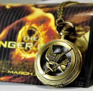 HOT Wholesale 10 Pcs lot Free Shipping Pocket Fob Watches Big Size Vintage style Hunger games