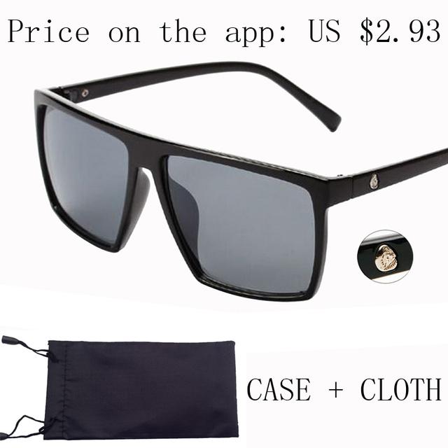 Бренд ретро лето стимпанк рамка череп квадратные очки все черный негабаритных большой ...