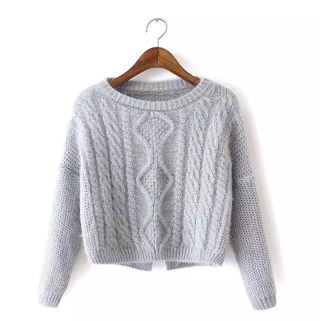 xzh40 knitting short sweaters for women autumn 2015