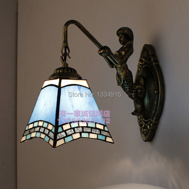 Фотография free shipping Energy conservation light household restaurant corridor The little mermaid wall lamp crystal lamp droplight 100041