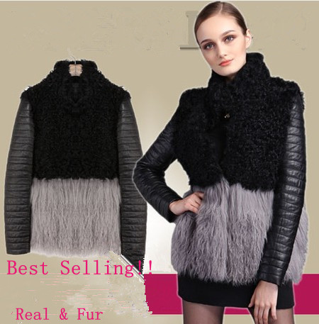 Women Genuine Fur Leather Coat Natural Lamb Wool Coats Real Jacket Female Winter Warmest 3XL Plus Size Clothing