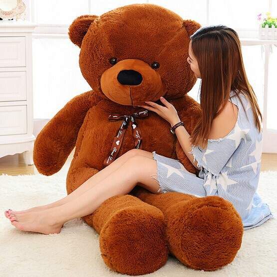 [5COLORS] Giant teddy bear 200cm/2m life size large stuffed soft toys animals plush kid baby dolls women toy valentine gift(China (Mainland))