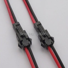 100pair 2pin led strip Male/female Connector 2 x 10cm Wire cable for single color strip light Lamp Driver