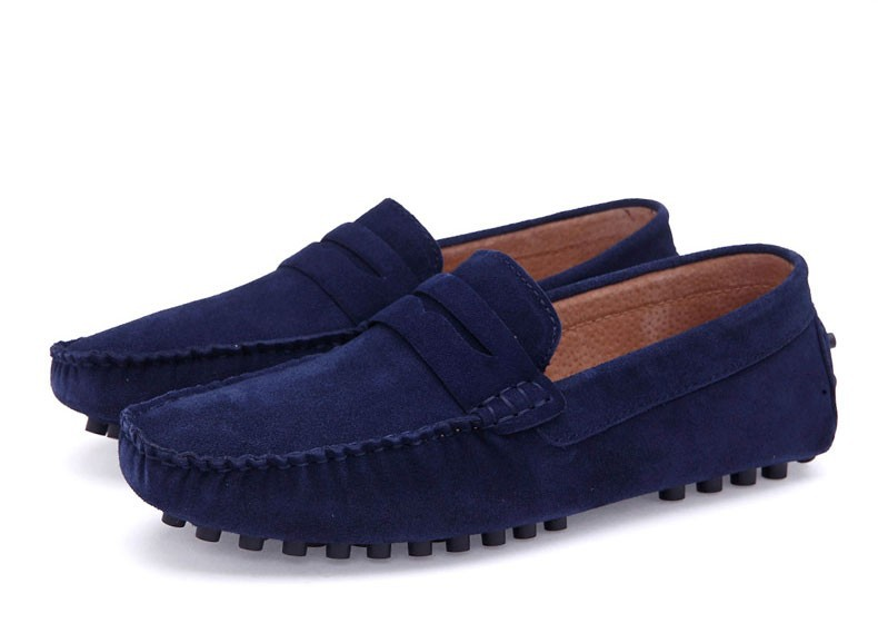 Clax Mens Moccasins Breathable Designer Flat Suede Leather Shoe Male Casual Loafer Slip On Driving Shoes Fashion Classic