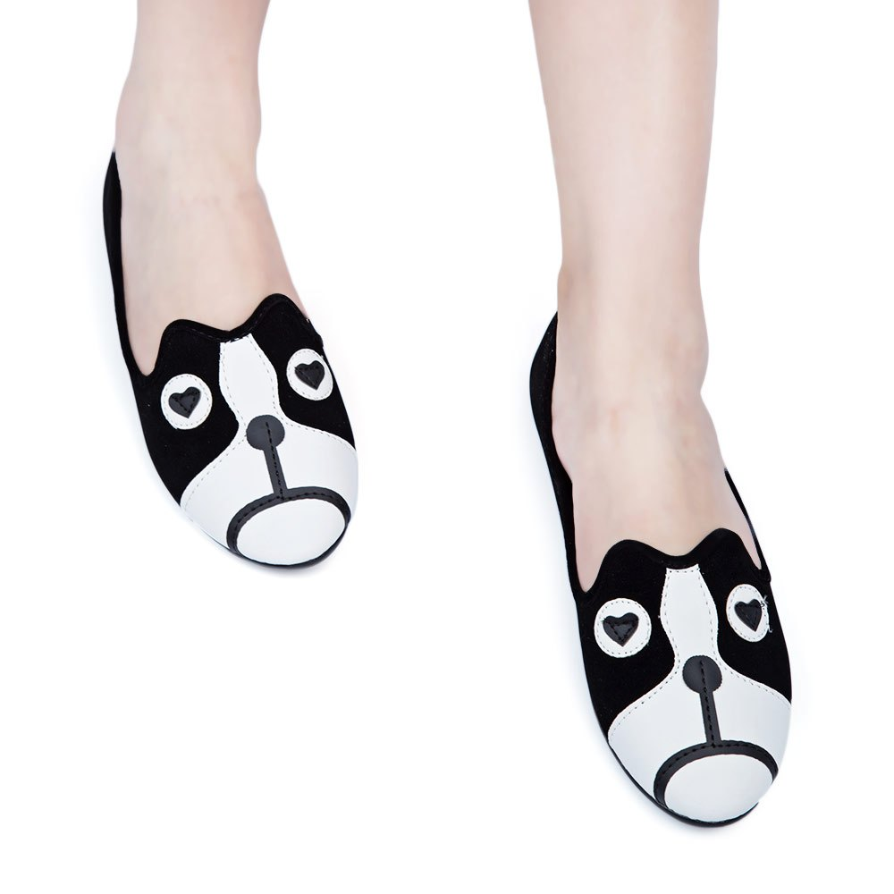 Casual Style Spring and Fall Cute Girls Closed Toe Slip-On Shoes Cartoon Animal Suede Alpargatas Loafers Flats Shoes For Women(China (Mainland))