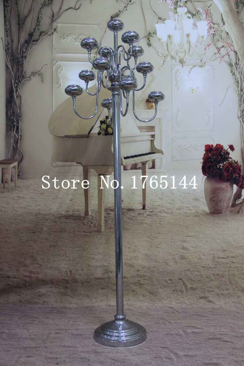 Tall Metal Pillar Candle Holders : Free shipment standing candelabras wedding pillar tall