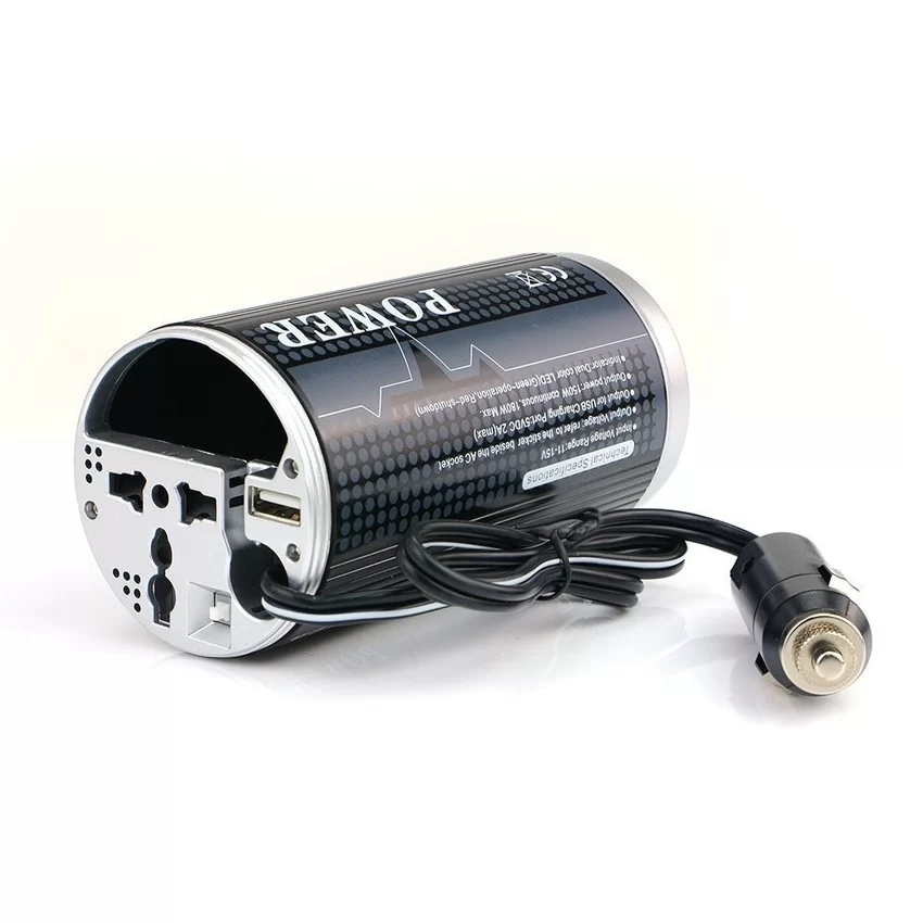 BESTEK Car Cup Power Inverter 150W Can Inverter 12V DC Cigarette Lighter Power Converter Adapter To 230V AC For iPhone/Laptop(China (Mainland))