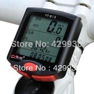 2016 Hot Waterproof Digital Multifunction Cycling Computer Bicycle Speedometer Odometer LCD Backlight Backlit Bike Clock#90(China (Mainland))