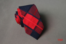 High Quality Ties for Men Wedding 6CM Skinny Cotton Neck Tie Business Plaid & Rainbow Striped Necktie Fresh Colorful Neckwear(China (Mainland))