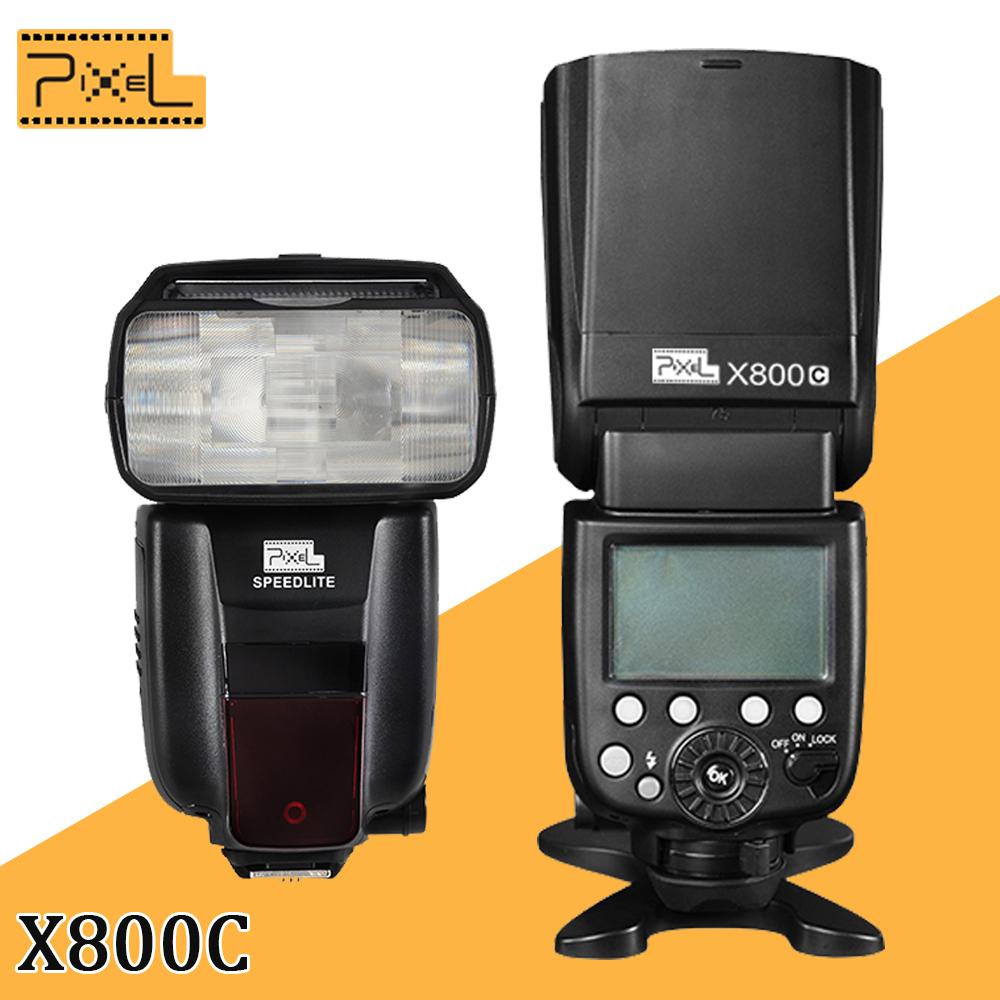 Вспышка для фотокамеры PIXEL X800C GN60 e/ttl 2.4 HSS Speedlite Canon 5D Mark III 5D 2 7 d 6D 60D 70D 650D 750D 700D meike mk 910 mk910 i ttl 1 8000s hss sync master