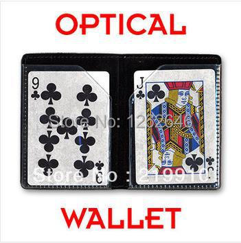 2pcs/lot OPTICAL WALLET - Card Magic Tricks/ props,stage,mentalism,close up,comedy,magic toys<br><br>Aliexpress