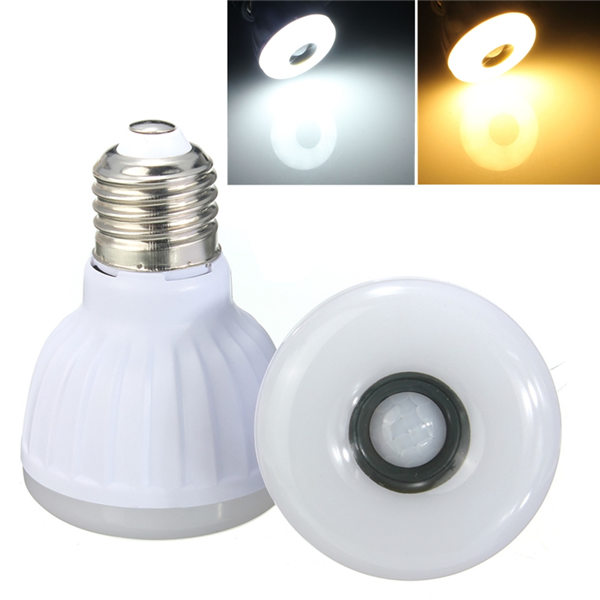 e27 25 led 3528 smd 5w infrared pir motion sensor detector light lamp. Black Bedroom Furniture Sets. Home Design Ideas