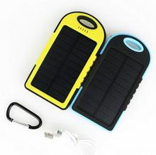 5000mAh Solar IP4X4 Waterproof External Power Bank Battery Pack Dual 5000 mah USB Charger for cell phones 2016 NEW
