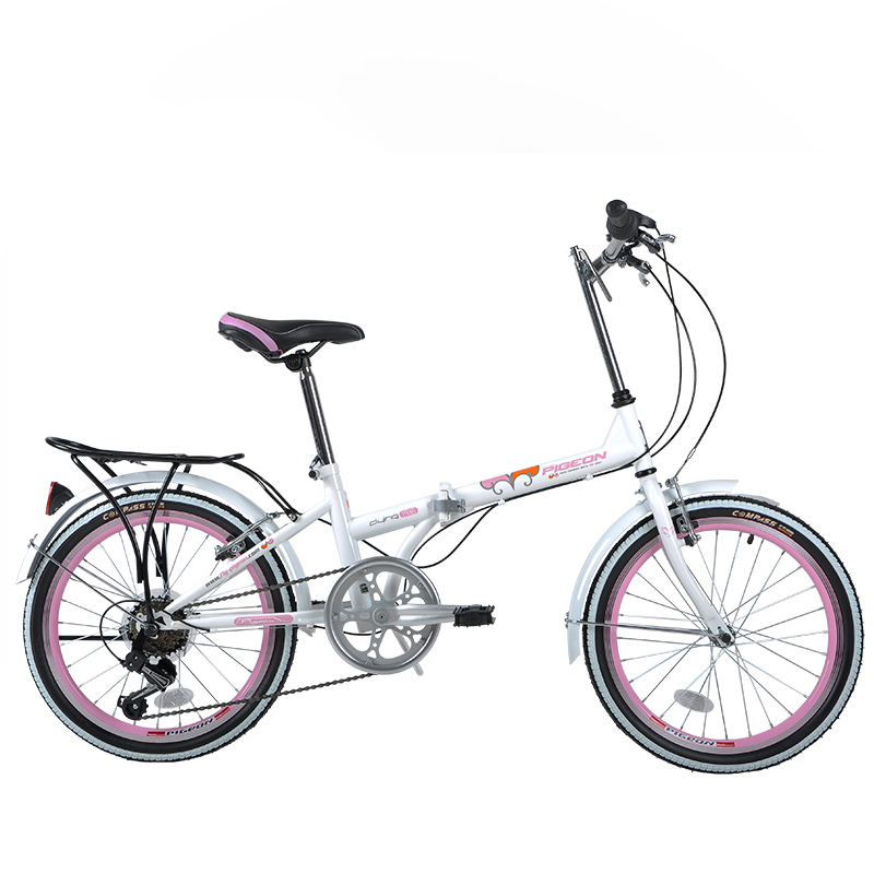 20 inch Mini Folding Bike 6 Speed Bicycle Adult Portable Carbon Steel Frame Foldig Bicycle Mechanical V brakes FG206(China (Mainland))