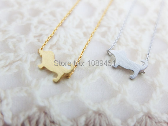 Free Shipping 2014 New  Arrival Fashion     Dog Necklace   Tiny charm necklace Animal necklace Thanksgiving Gift