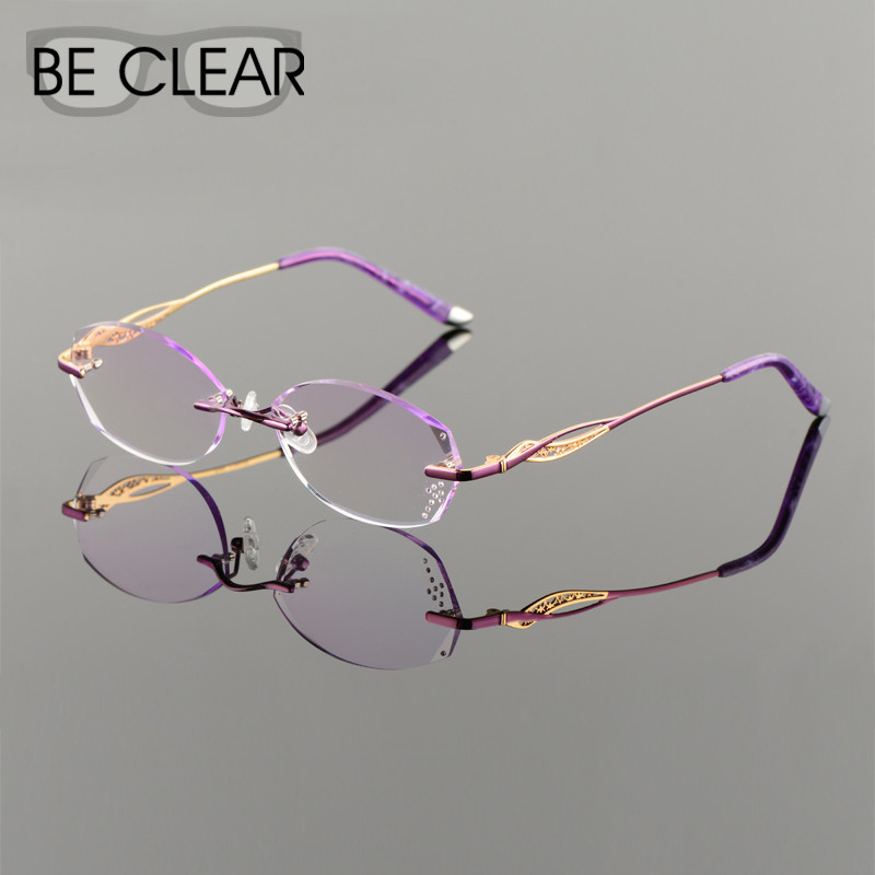 Titanium Eyeglasses Women Rimless Prescription Reading Myopia Photochromic Progressive Glasses Spectacle with MR-8 Color lensОдежда и ак�е��уары<br><br><br>Aliexpress
