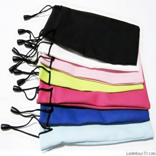 B free shipping wholesale waterproof phone bag cloth  mixing colors 17*8cm sunglasses bag pouch high quality