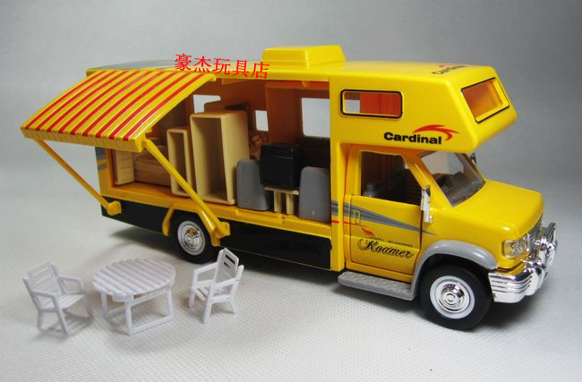 Car model toys rv travel assembly toy plain WARRIOR car bus