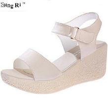 Mushroom women's shoes wedges sandals platform open toe platform shoe women's shoes