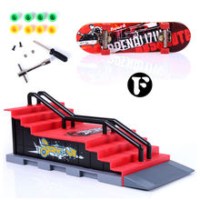 Skate Park Ramp Parts for  Fingerboard Finger Board Ultimate Parks Boys Games Adult Novelty Items Children Toy F Shape   #1JT(China (Mainland))