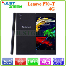 5 inch IPS Lenovo P70-T 4G LTE Mobile Phone MTK6752 Quad Core 1.5GHz Android 4.4 2GB Ram 16GB Rom  5MP+13MP Dual SIM GPS 4000mAh