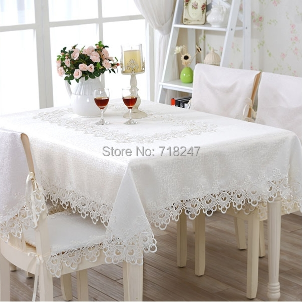 Hot Sale 130*180cm Elegant Polyester Lace Tablecloth Wedding Party Covers Delicate Quality Table Cloth Towel Overlay Home Decors(China (Mainland))