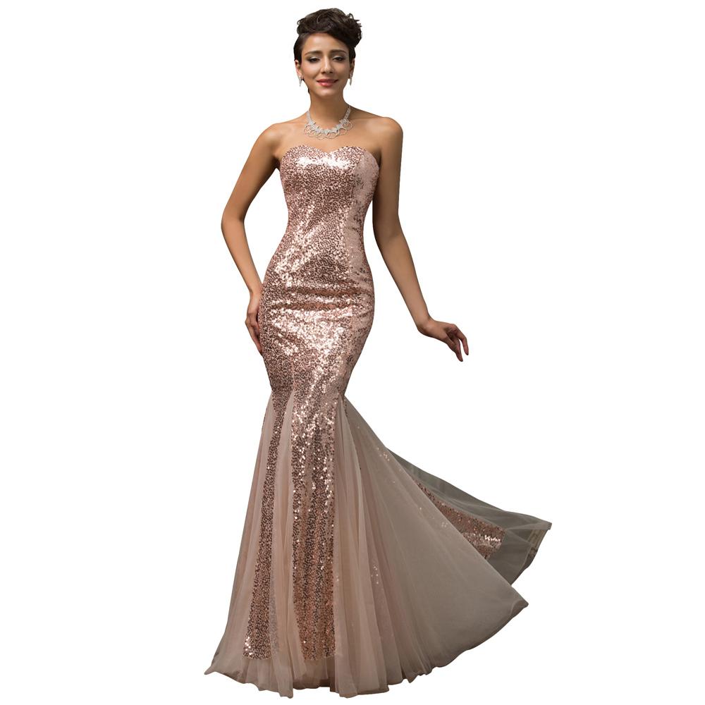 purple pink sequins floor length trumpet mermaid prom