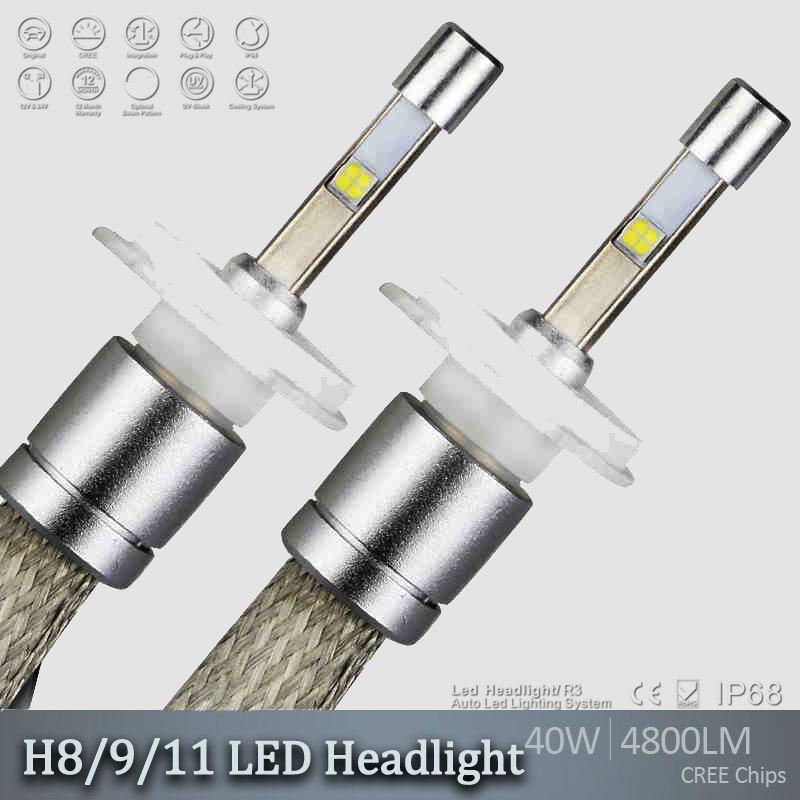 R3 9600lm 80W Cree XHP-50 Car LED Headlight Kit H1 H3 H4 H7 H9 H11 9005 HB3 9006 HB4 9012 H13 Xemon DRL White 6000K lamp blub(China (Mainland))