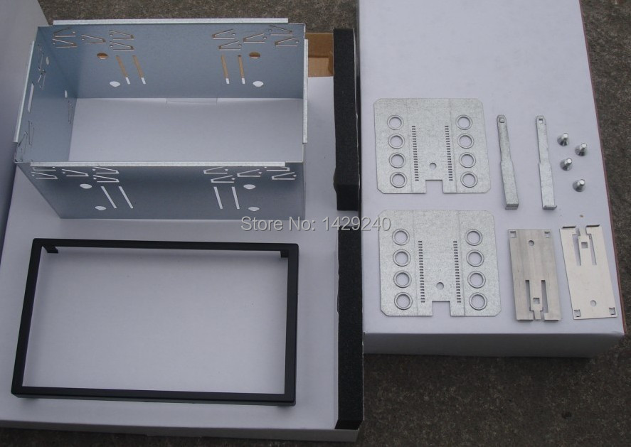 Universal Double Din Fascia Panel Adapter Installation Cage Fitting Kit ISO Mounting Bracket Head Unit Fixed Stable Iron Cages(China (Mainland))