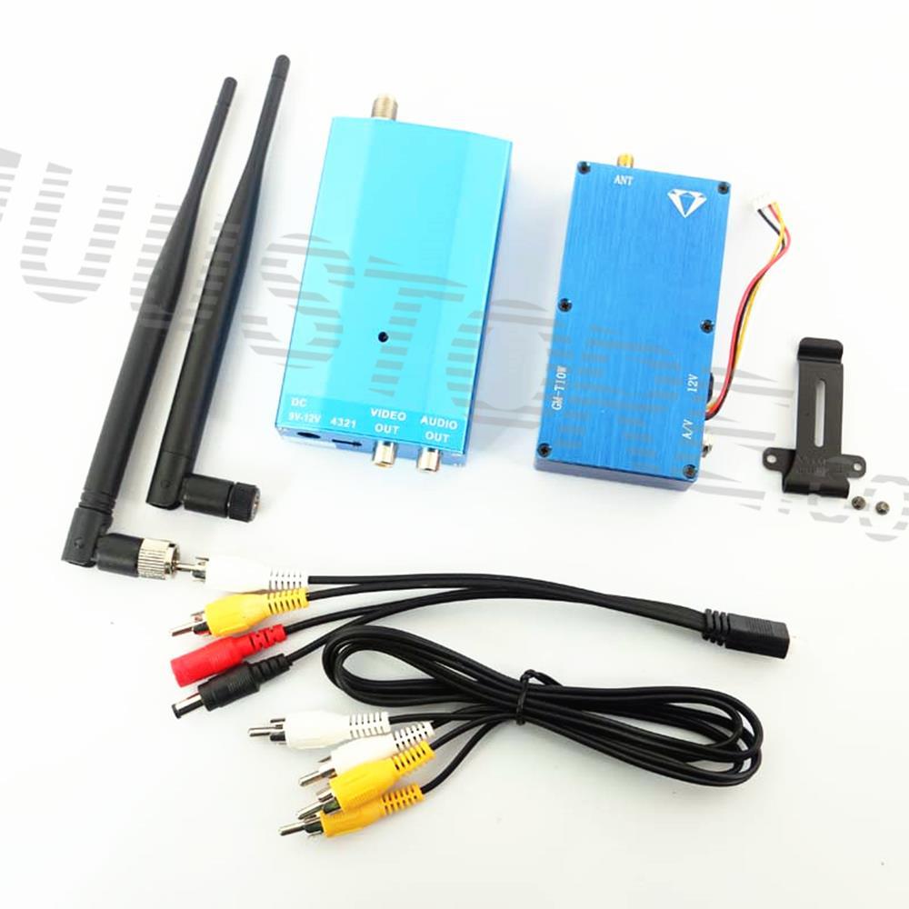 FPV wireless video transmitter 1.3Ghz 10W 10000mw CCTV transceiver image transmission AV sender video transmitter long range(China (Mainland))