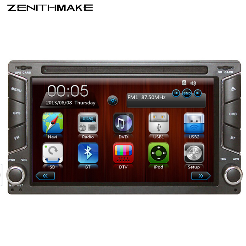 Free shipping 2din New universal Car Radio Double din DVD Player GPS Navigation In dash Car PC Stereo video Free Map Camera(Hong Kong)