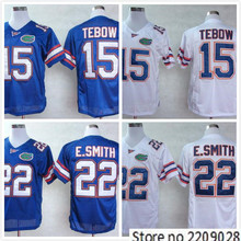 New Florida Gators #22 Emmitt Smith Blue White Embroidery Logo College Jersey(China (Mainland))
