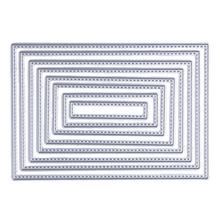 8pcs Scrapbook DIY Album Card Paper Card Maker Metal Die Cut Rectangle sewing Thread 8.3x12cm Cutting Dies(China (Mainland))