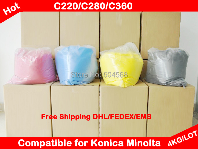 Compatible for Konica Minolta Bizhub C220/C280/C360/C200/C250/C252/C350/C352/C451/C550 Chemical Color Toner Powder Free Shipping(China (Mainland))