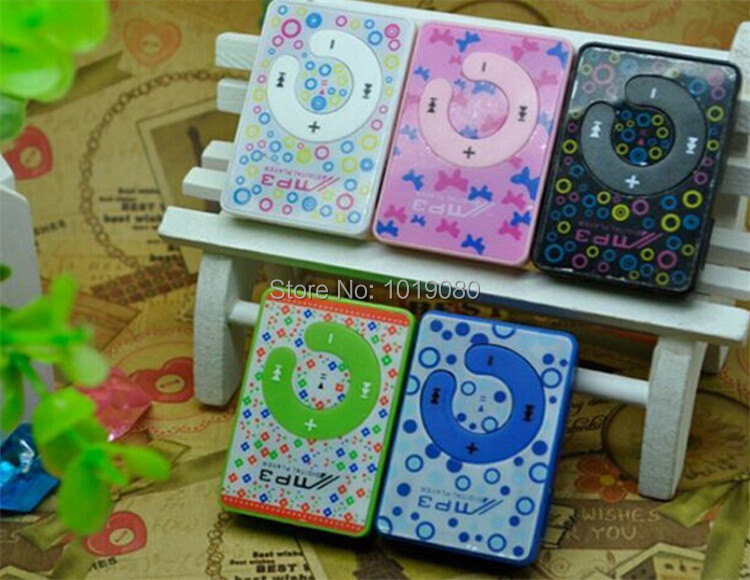 Cheap 1PC Mini Clip MP3 Player Support Micro SD Card, Cute Print MP3 Music Player (MP3 only) C113X(China (Mainland))