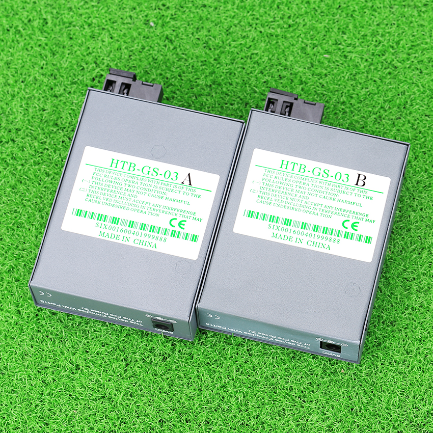 1 Pair HTB-GS-03 A/B Gigabit Fiber Optical Media Converter 1000Mbps Single Mode Single Fiber SC Port 20KM External Power Supply(China (Mainland))