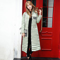 Woman Winter Slim Coat Made Of Goose Feather 2016 XXL Plus Size Red Green Grey Long
