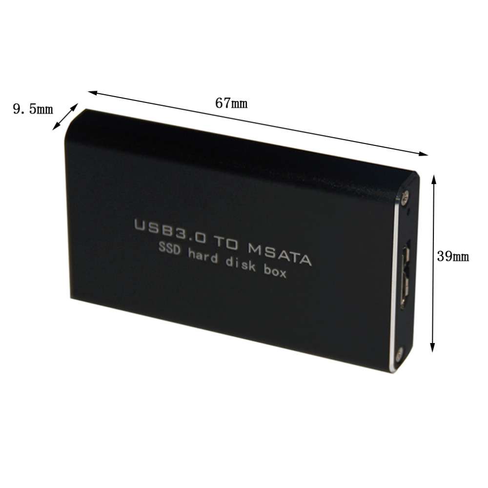 Newest LS-721M Protable USB 3.0 TO MSATA SSD Hard Disk Box For 3060/3042 Computer PC Notebook External Memory Storage With Cable(China (Mainland))