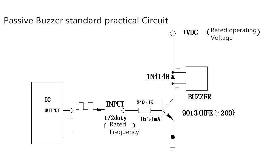 Practical circuit of the buzzer_