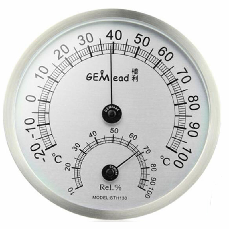 Gemlead High Temperature measuring stainless steel Indoor Outdoor Thermometer Hygrometer sauna bath laboratory Weather Station(China (Mainland))
