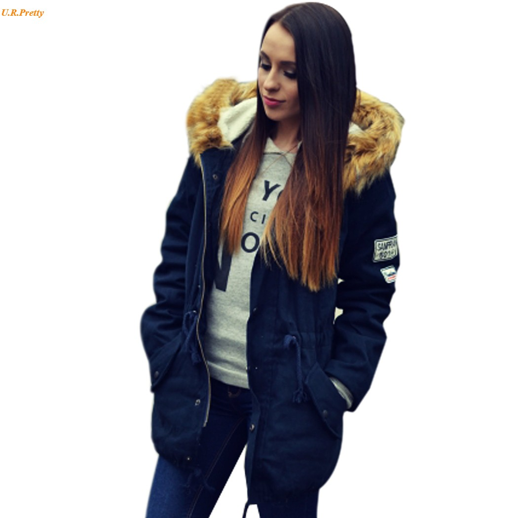 Popular Ladies Blue Jacket with Fur Hood-Buy Cheap Ladies Blue