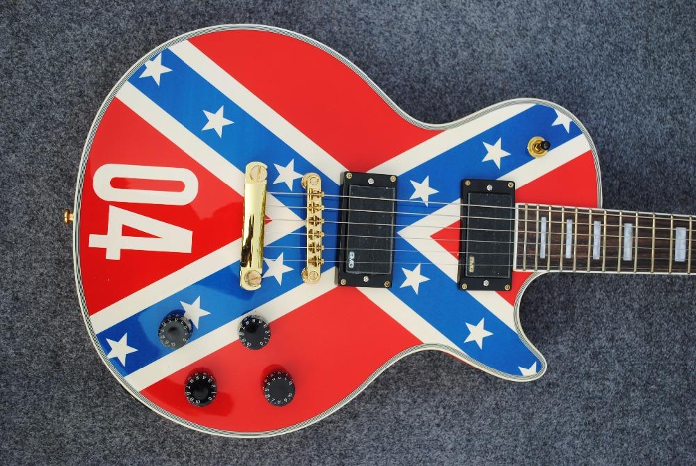 national flag lp guitar standard less electric guitar free shipping EMS you can custom-made paule guitar custom shop(China (Mainland))