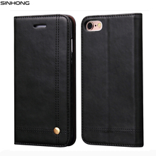 Luxury Leather Wallet Phone Case For iPhone 6 6S 7 7 Plus Flip Cover Pouch Card Slot Stand Magnetic Fundas For iPhone 5 5S Se(China (Mainland))