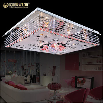 living room lamps modern minimalist fashion led crystal light ceiling light romantic mp3 music. Black Bedroom Furniture Sets. Home Design Ideas